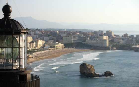 biarritz, phare, au, golf, juillet,