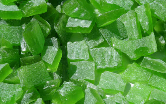 мармелад, зелёный, кусочки,