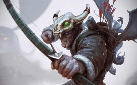 archer, art, hunter, лук,