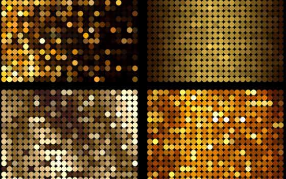 текстура, круги, золотые