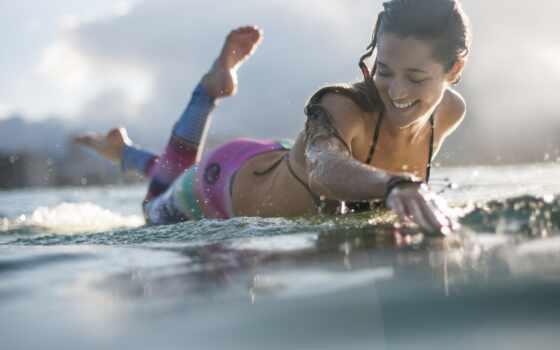 девушка, сёрфинг, спорт, волна, песочница, другой, permission, tschatelnyi, surfer