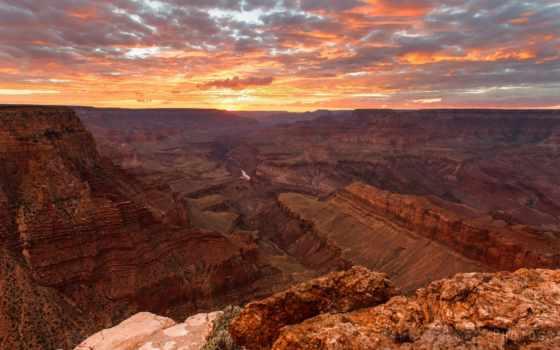 каньон, закат