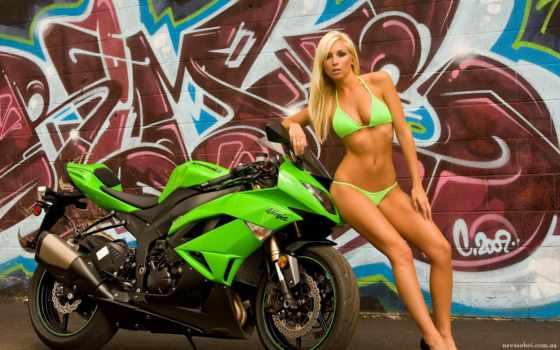 девушка, мотоцикл, мотоциклы Фон № 60164 разрешение 1920x1200
