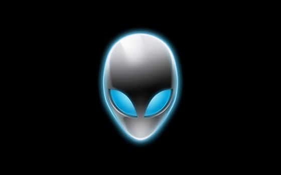 logo, alien, alienware, black, череп, голова, пришельца, profittask, чужие, fone, черном,