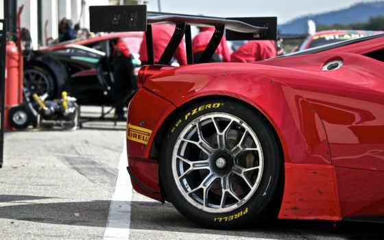 , красный, колесо, диск, ferrari, grille,
