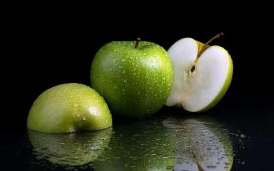 яблоки, капли,