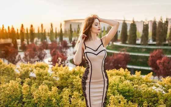 девушка, women, outdoors, red, portrait, модель