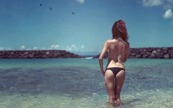 море, девушка, купальник Фон № 41593 разрешение 2592x1781