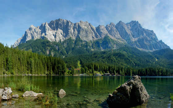 природа, горы, река
