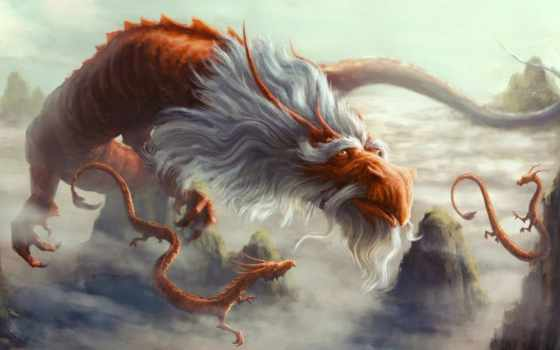 fantasy, дракон, драконы, art, борода, фантастика, старый, рога,