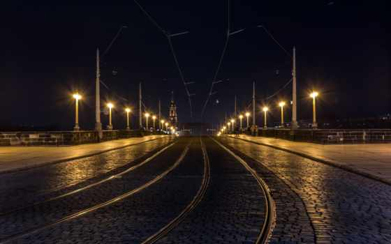 улица, свет, dimension, город, дорога, ночь, dresden