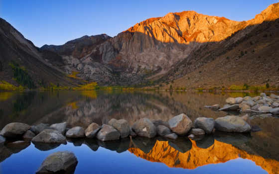 lake, convict, mount, morrison, гора, california, usa,