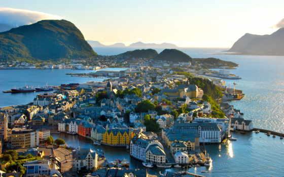 норвегия, олесунн, город