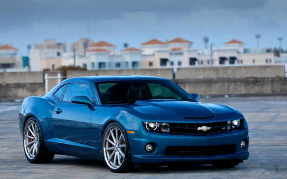 camaro, chevrolet, blue