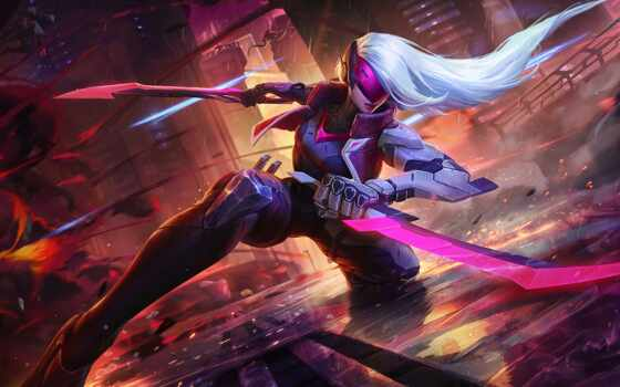 katarina, проект, июл, skin, legends, pbe, splash, league, art,