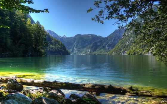 природа, landscape, german, бавария, небо, горы, качества, хорошего, красивые, картинка, water,