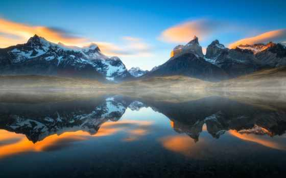 chile, desktop, mountains, озеро, south, america,