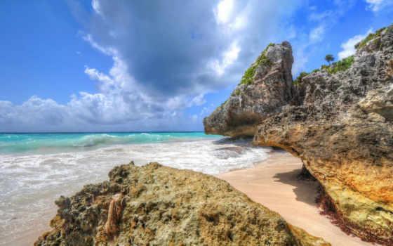 природа, побережье, море