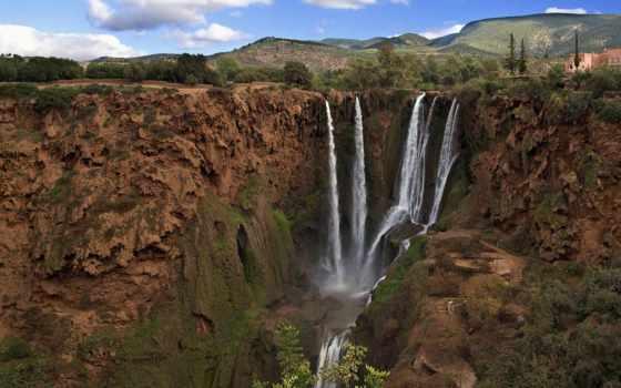 moroccan, узуд, водопад, ouzoud, falls, водопадов, водопады, природа, банка,