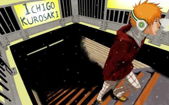 ичиго, kurosaki, bleach, anime, gifs, art, тенор, взгляд, радость, neshiro,