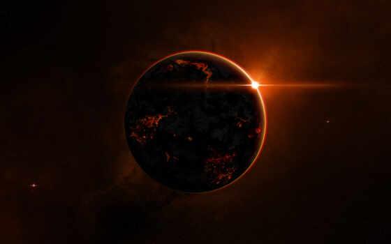 планета, огонь Фон № 1999 разрешение 1920x1200