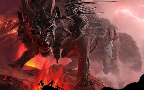 fenrir, горы, волк