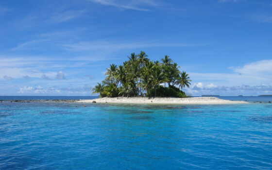 остров, необитаемый, priroda