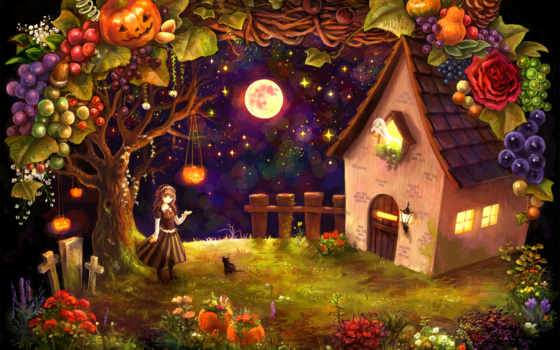 праздники, хеллоуин, halloween, house, тыквы,
