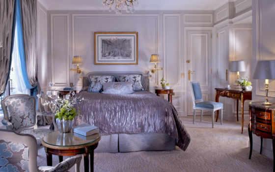спальня, кровать, интерьер