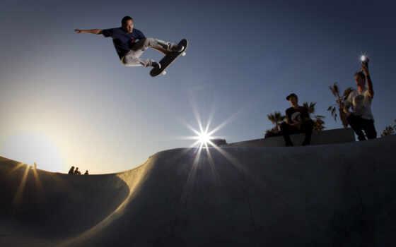 skateboard, рампы, skateboarding