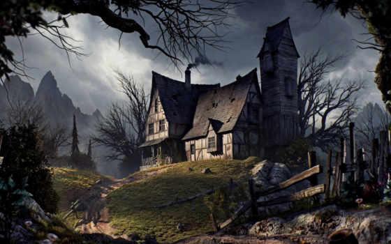 старый, house, halloween
