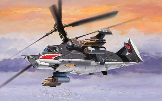 ка, акула, вертолет, black, черная, shock, hokum,