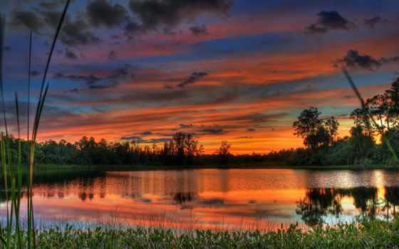озеро, landscape, природа