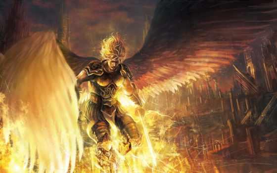 fantasy, ангелы, крылья, angel, воители, картинка, мужчины,