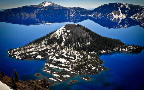 озеро, crater, national, park, oregon, parc,