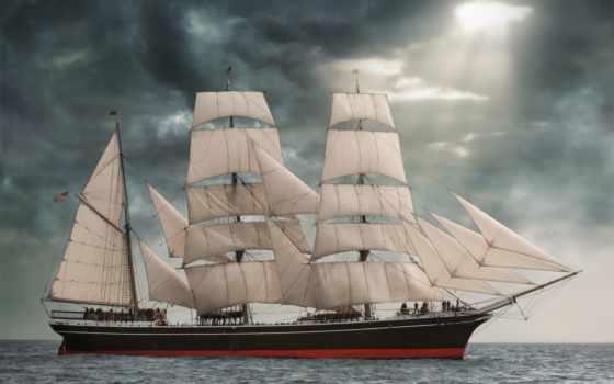 sailboat, паруса, star, индии, море, тучи, кора, парусники, техника, другая,