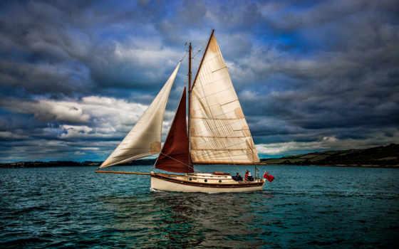 , спорт, море, паруса, яхта,