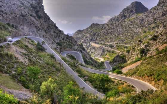 calobra, са, дороги, балеарские, испания, дорога, эскорка, порт,