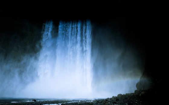 водопад, iceland, природа, desktop, resolutions, mobile,