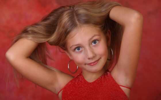 модель, алисса, ребенок, девушка, рука, glance, волосы, little, планшетный, stare
