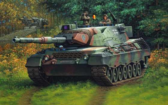 рисунок танка леопард