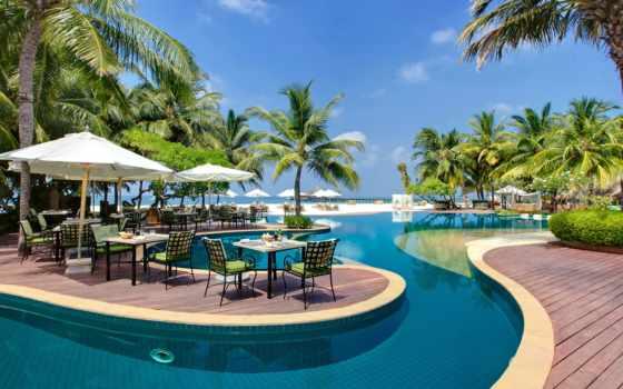 море, пальмы, maldives