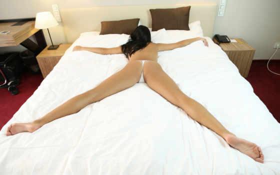 devushki, ноги, кровать, чтобы, stringi, devushka, посмотрет, обою, истинном,