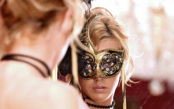 зеркало, more, отражение, девушка, зеркале, club, russian, маска, бусы,