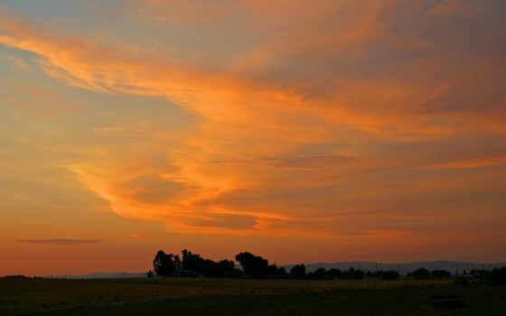 небо, оранжевый, ratio