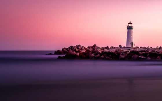 закат, lighthouse, ноутбук, desktop, resolutions, mountains, пляж, android, blue,