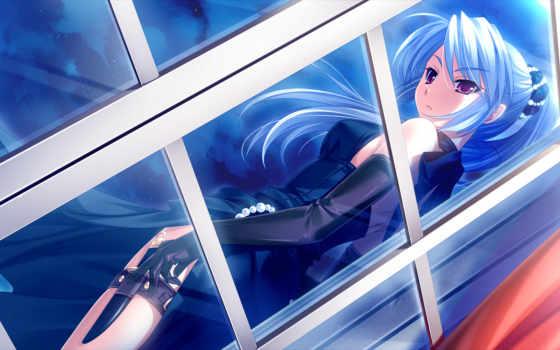 anime, девушка, волосы