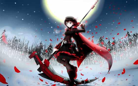 anime, rwby, девушка