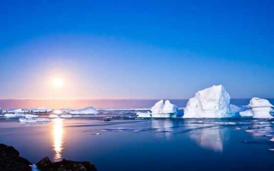 arctic, небо, снег, тучи, mountains, наша, capped, planet, льдины,