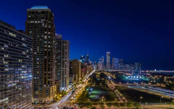 город, chicago, ночь, сша, параметры, нхл,
